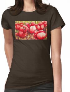 Dancing Tulips Womens Fitted T-Shirt