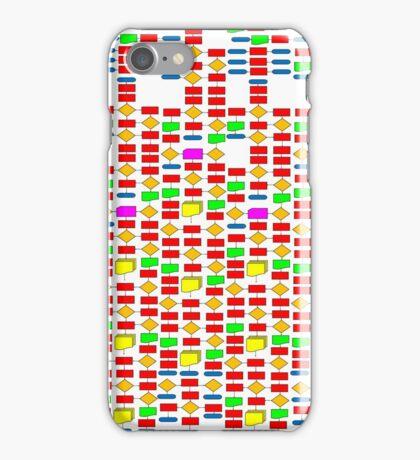 Colourful Flowchart Design iPhone Case/Skin
