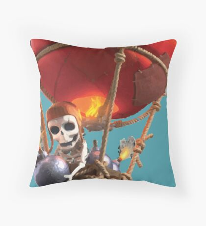 Clash of Clans Balloon Throw Pillow