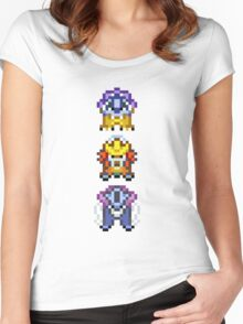 Legendary beasts 16 bit Women's Fitted Scoop T-Shirt