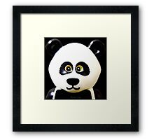 Cute Lego Panda Guy Framed Print