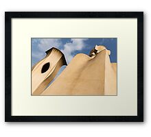 Whimsical Chimneys - Antoni Gaudi Smooth Shapes and Willowy Curves - Right Framed Print