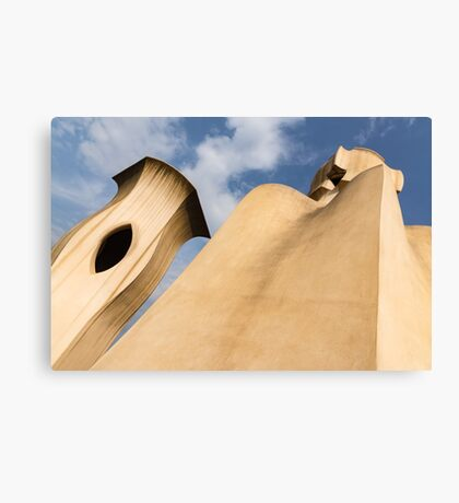Whimsical Chimneys - Antoni Gaudi Smooth Shapes and Willowy Curves - Right Canvas Print