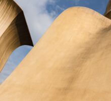 Whimsical Chimneys - Antoni Gaudi Smooth Shapes and Willowy Curves - Right Sticker