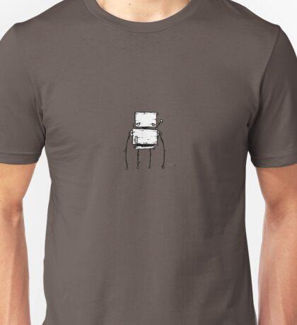 TAB the robot - white BG Unisex T-Shirt