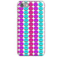 Pink Blue Purple Doughnut Pattern iPhone Case/Skin