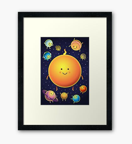 Space Friends Framed Print