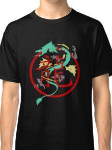 Beautiful Dragon weaved through Chinese dragon symbol Classic T-Shirt