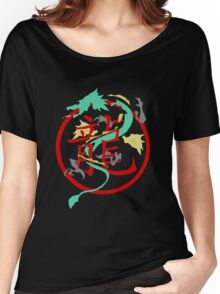 Beautiful Dragon weaved through Chinese dragon symbol Women's Relaxed Fit T-Shirt