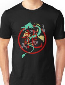 Beautiful Dragon weaved through Chinese dragon symbol Unisex T-Shirt