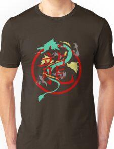 Beautiful Dragon weaved through Chinese dragon symbol Unisex T-Shirt