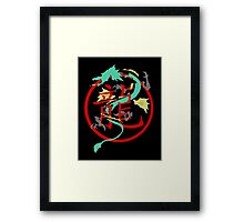 Beautiful Dragon weaved through Chinese dragon symbol Framed Print