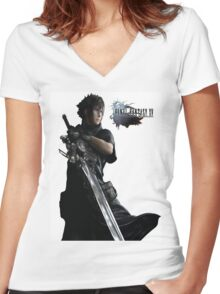Final Fantasy 15  Women's Fitted V-Neck T-Shirt