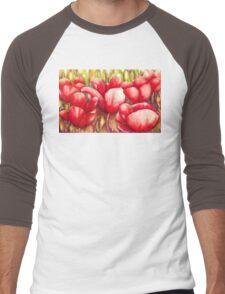Dancing Tulips Men's Baseball ¾ T-Shirt