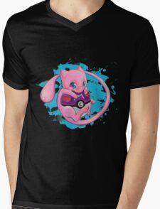 Huging Mew Mens V-Neck T-Shirt