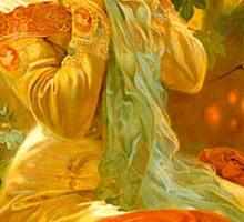 Alphonse Mucha Painting II Sticker
