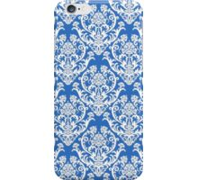 Blue and White Damask Pattern iPhone Case/Skin