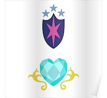 My little Pony - Shining Armor + Princess Cadence Cutie Mark V2 Poster