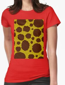 Spotty Fur Yellow an Brown Pattern Womens Fitted T-Shirt