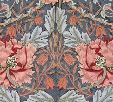William Morris Floral Pattern in Red and Blue Sticker