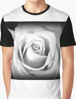 Single Rose in Black and White Graphic T-Shirt