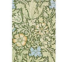 William Morris Floral Pattern - Compton wallpaper Photographic Print