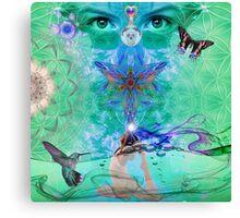 Green Yoga Canvas Print