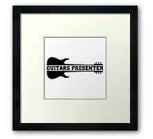 Guitar Presenter Framed Print