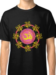 Om in Pink and Yellow Wheel Classic T-Shirt