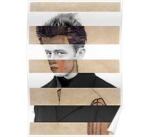 """Schiele's """"Self Portrait"""" & James Dean Poster"""