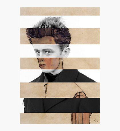 """Schiele's """"Self Portrait"""" & James Dean Photographic Print"""