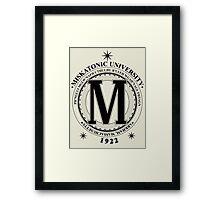 Miskatonic University - Fhtagn (Light) Framed Print