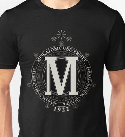 Miskatonic University - Per Sacrificium, Cognitio (Dark) Unisex T-Shirt