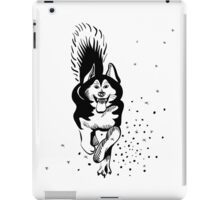 sled dog Alaskan malamute running iPad Case/Skin