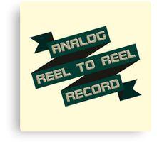 Analog Reel To Reel Record Canvas Print