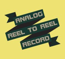 Analog Reel To Reel Record Kids Tee