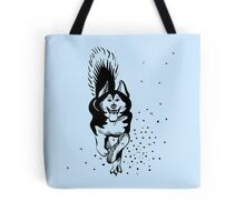 sled dog Alaskan malamute running Tote Bag