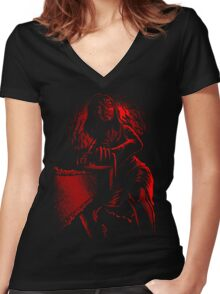 Feast on THIS! Women's Fitted V-Neck T-Shirt