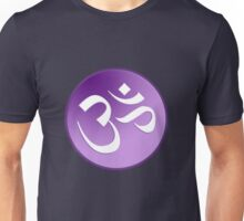 Braham OM Symbol in Purples and Lavenders Unisex T-Shirt