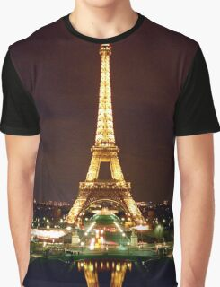 Eiffel Tower in Color Graphic T-Shirt