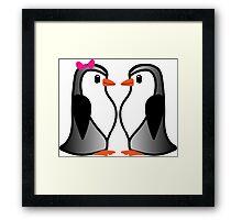 Penguin Lovers Framed Print