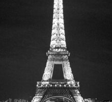 Eiffel Tower At Night Sticker