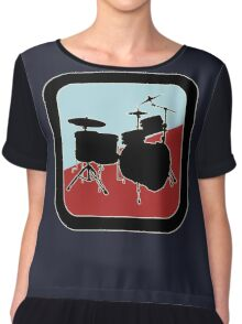 drums Sign Chiffon Top