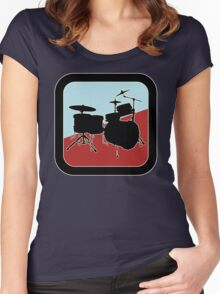 drums Sign Women's Fitted Scoop T-Shirt