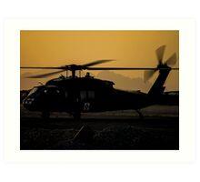 US Army Blackhawk Medic helicopter Art Print