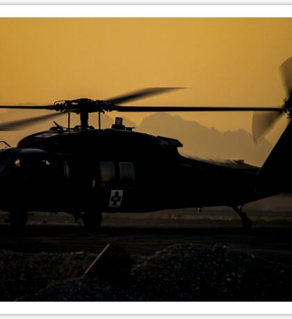 US Army Blackhawk Medic helicopter Sticker