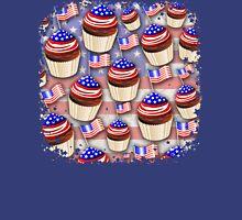 USA Flag Cupcakes Pattern Unisex T-Shirt