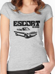 Ford Escort RS 2000 Men's Classic Car T-Shirt Women's Fitted Scoop T-Shirt
