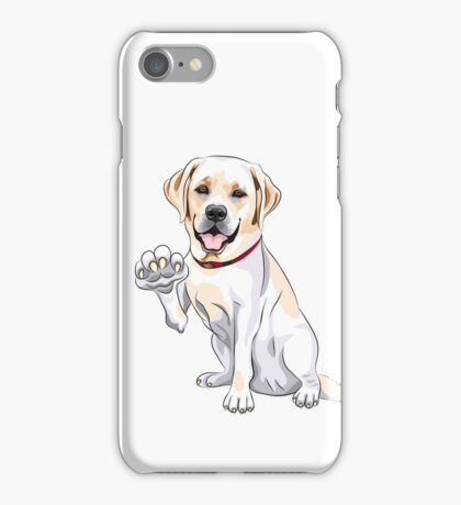 Labrador Retriever smiles and gives a paw iPhone Case/Skin