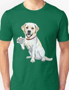 Labrador Retriever smiles and gives a paw T-Shirt
